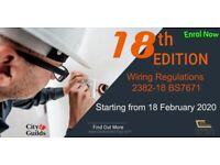 18th edition wiring regulations course Cranbrook college