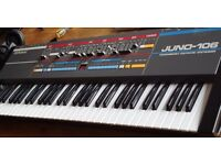 Roland Juno 106 Vintage Analog Synth 100 Percent Working