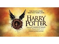 2 x Harry Potter Tickets Part One and Two Wednesday 07/12/16 Dress Circle B Seated Together