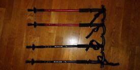 New Hiking Camping Walking Sticks or Trekking poles two pairs