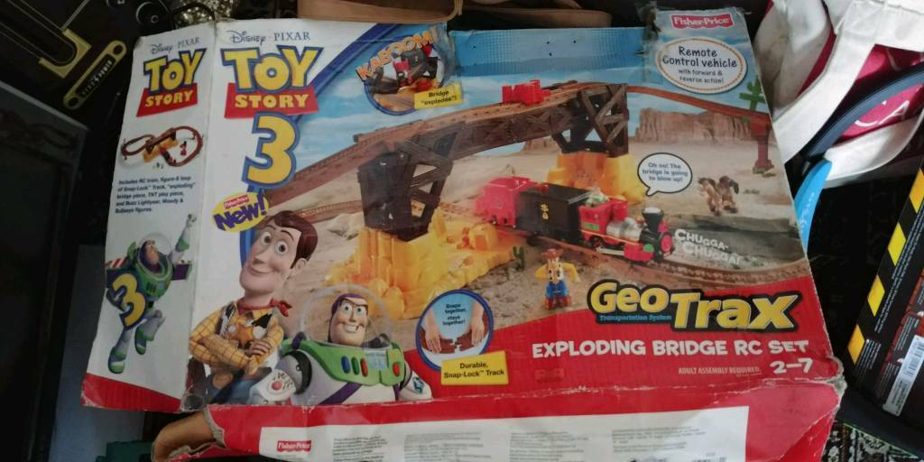 Toy story train set. Boxed. Remote. Speech