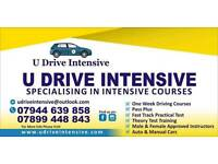 One Week Driving Courses & Theory training. Automatic & Manual cars