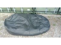 Large Adult Leather Bean Bag