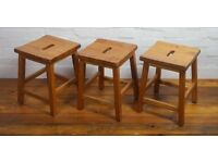 10 Available 1960s school beech stools antique vintage industrial chair child children bedroom