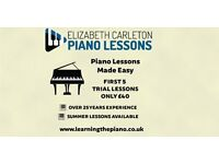 Piano Lessons from experienced teacher| 1st 5 lessons for £40 | Limited spaces available