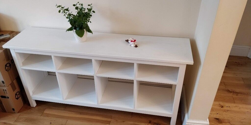 Ikea Hemnes Console Table Sideboard Storage System White Stain