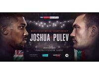 2 x Anthony Joshua vs Kubrat Pulev tickets block L12 overlooking ring walk!