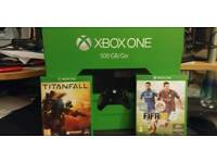 Xbox one 500gb. Plus 2 controllers. Boxed with 2 games
