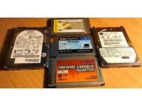 2 x 20GB Hard Disk Drives 3 x PCMCIA Cards