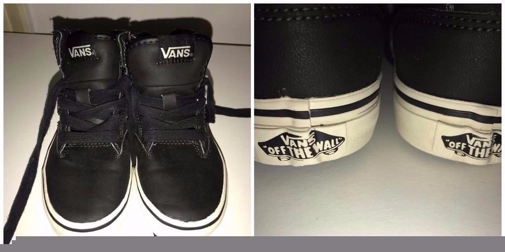 BOYS SIZE 12 VANS VERY GOOD CONDITIONFREE NEW DINASOUR PYJAMAS 7 8 YEARSin Penny Lane, MerseysideGumtree - BOYS SIZE 12 VANS VERY GOOD CONDITION SEE PICS BARGAIN FOR £4 PICK UP ONLY SORRY