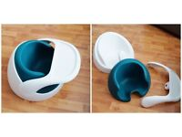 MAMAS & PAPAS Baby Snug Chair & Tray in White & Teal - Liverpool