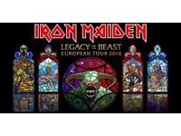 Iron Maiden @ The o2 (4 x Standing) tickets available will negotiate 10 Aug 2017 @ 6.00pm