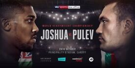 Anthony Joshua vs Carlos Takam tickets X2 Principality Stadium Cardiff