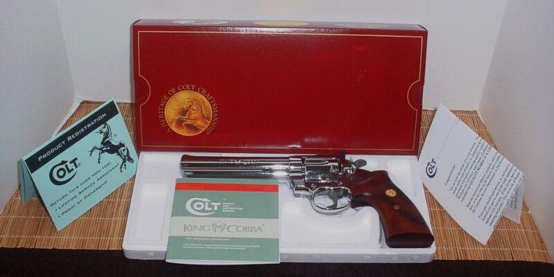 VINTAGE 1985-1988 150 Year COLT KING COBRA  ANACONDA PYTHON PISTOL BOX & PW