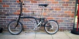 Brompton S3L 2 year old folding bike
