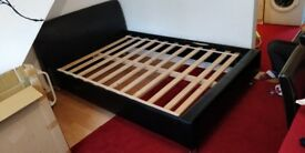 Double bed faux leather