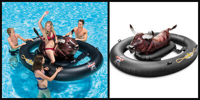 Bull Riding Inflatable (Inflatabull PBR Rodeo Inflatable Bull Ride On Float Game Pool Party Water)