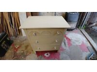 Painted Solid Oak Chest (3 Draw)