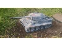 HENG LONG GERMAN TIGER 1 1/16 SCALE RC ELECTRIC TANK for sale