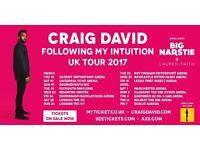 2x Craig David standing tickets, Manchester Arena, Saturday 1st April 2017