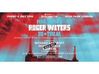 2 x GOLD CIRCLE Pink Floyd ROGER WATERS in London *6th July '18* US + THEM BST Hyde Park IN HAND