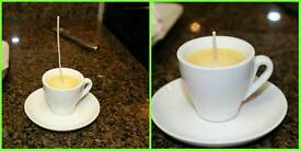 Hand made espresso cup candles