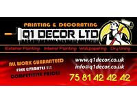 Painting and decorating / painter decorator / tiling /tiles / dry walls / general maintenance