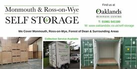 Self Storage with optional Insurance Cover and Mobile Self Storage collection service