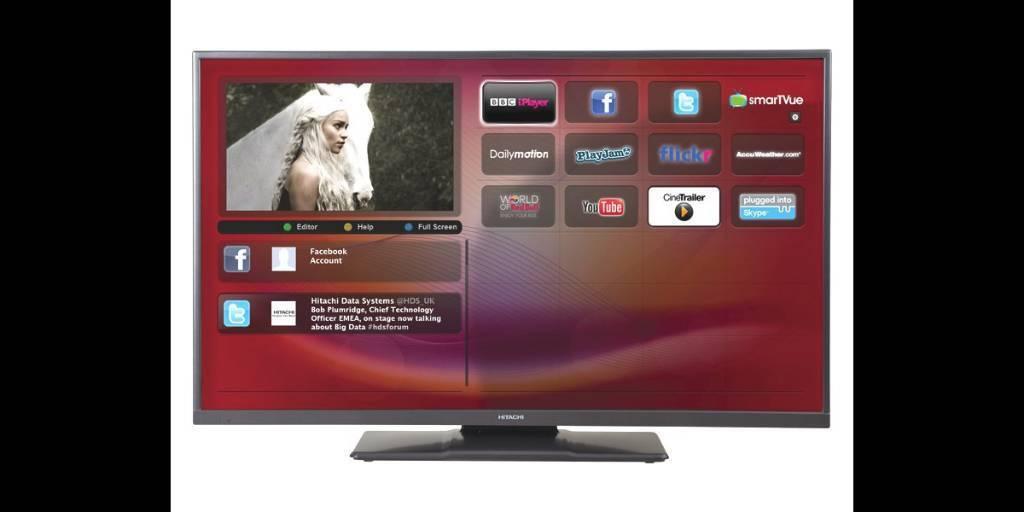 hitachi 42 inch smart tv