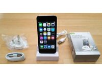 iPod Touch 5th Gen with iSight Camera, Mint Condition, 16GB Space Grey, Charger and Docking Station