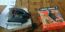 Black & decker cordless drill and basic jigsaw
