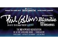 PHIL COLLINS TICKETS - BRITISH SUMMER TIME HYDE PARK 30TH JUNE