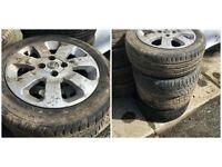 """vauxhall corsa sxi 185-55-15"""" Alloy Wheel and Tyres Set Of Four"""