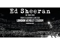2 x 2x Ed Sheeran reserved seating tickets Wembley