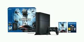 Playstation 4 with Star Wars Battle Front, WatchDogs and Call Of Duty Advanced Warfare