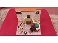 Vintage Retro 1996 Wallace & Gromit Talking Lounge Radio Alarm Clock
