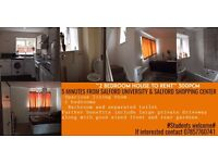 **2 BEDROOM HOUSE TO RENT** 300pcm (per room) #Students# NEXT TO SALFORD UNI!