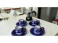 cappuccino cafeteria set