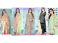 Latest unstitched indian pakistani semi stitched party wear salwar kameez suit