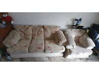 Set of sofa & armchair for sale