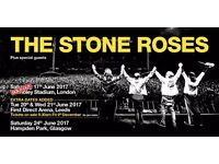 4 PITCH STANDING Stone Roses Tickets Wembley 17th June
