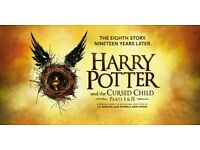 Harry Potter & The Cursed Child, 2 Tickets, 3rd/4th Nov. both Parts 1 & 2