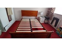 Double bed frame.. Solid Mango wood.. Indian wood