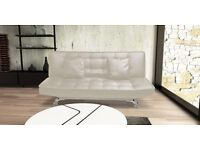 Designer Cream Sofabed Free Mainland UK Delivery & Free Assembly in your Home