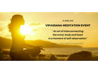 Vipassana Meditation 'art of interconnecting mind, body and heart in a moment of Self- Observation'