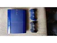 PS3 Super Slim 500gb limited edition blue