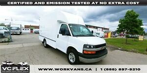2014 Chevrolet Express G3500 12Ft Box Single Rear Wheels - NO CV