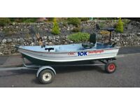 10ft Aluminum Boat with 55lb ft Electric Outboard