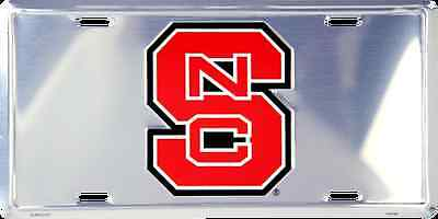 NORTH CAROLINA STATE WOLFPACK CAR TRUCK TAG CHROME LICENSE PLATE METAL NC SIGN North Carolina State Wolfpack Car