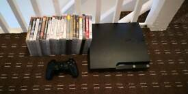 PS3 WITH 20 GAMES ALL LEADS AND PAD ALLSO PS3 CAMREA